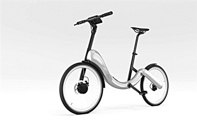 无链条折叠自行车